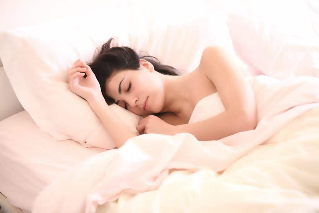 Woman sleep in the bed